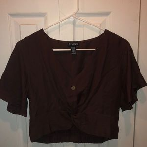 Tops - Cropped Button Top